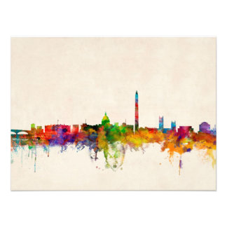 Washington DC Skyline Cityscape Art Photo