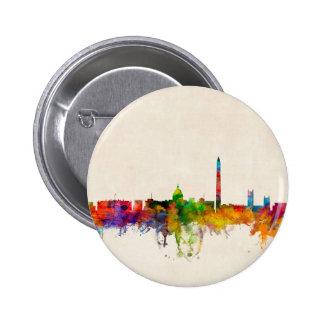 Washington DC Skyline Cityscape Pinback Button