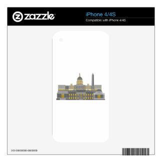 Washington DC Skyline Collage Illustration iPhone 4 Skins