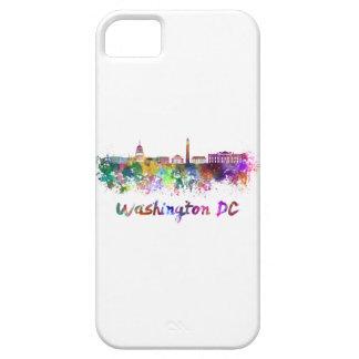 Washington DC skyline in watercolor iPhone SE/5/5s Case