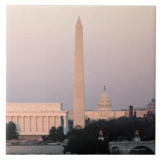 Washington, DC Skyline Large Square Tile