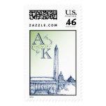Washington DC Skyline monogram Stamp