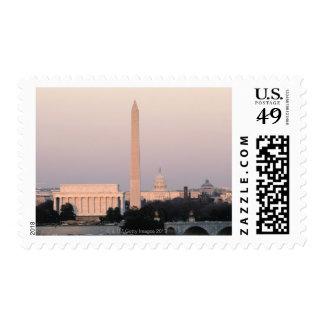 Washington, DC Skyline Postage Stamp