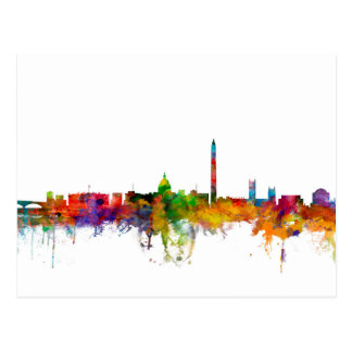 Washington DC Skyline Postcard