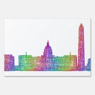 Washington DC skyline Sign
