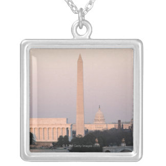 Washington, DC Skyline Silver Plated Necklace