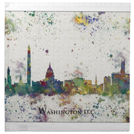WASHINGTON DC skyline, Washington DC Print Cloth Napkin