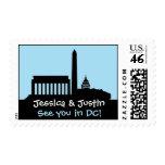 Washington DC Skyline Wedding Stamp