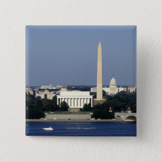 Washington DC Skyline with US Capitol Building 2 Button