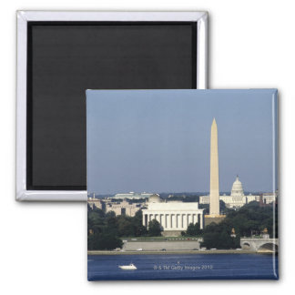 Washington DC Skyline with US Capitol Building 2 2 Inch Square Magnet