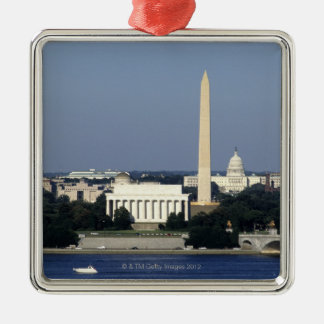Washington DC Skyline with US Capitol Building 2 Metal Ornament