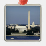 Washington DC Skyline with US Capitol Building 2 Christmas Tree Ornament
