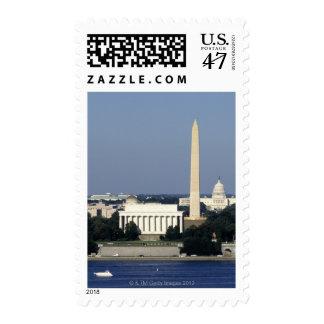Washington DC Skyline with US Capitol Building 2 Postage Stamp