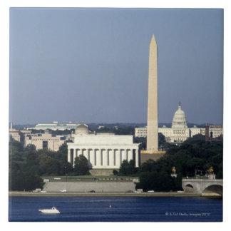 Washington DC Skyline with US Capitol Building 2 Tile