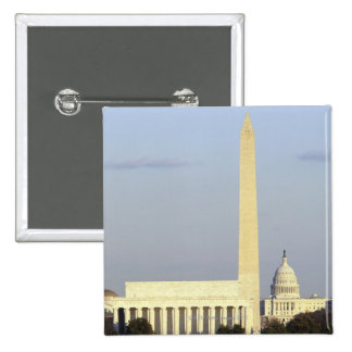 Washington DC Skyline with US Capitol Building Button