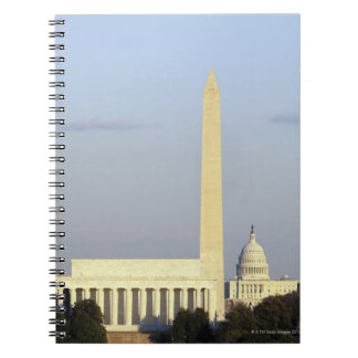 Washington DC Skyline with US Capitol Building Spiral Note Books