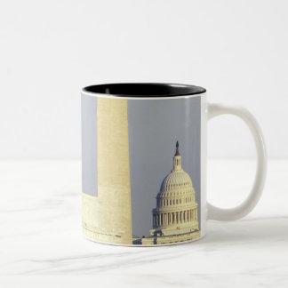Washington DC Skyline with US Capitol Building Two-Tone Coffee Mug