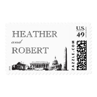 Washington DC stamp - Landmarks - Custom Names