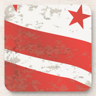 Washington DC State Flag Beverage Coaster
