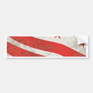 Washington DC State Flag Bumper Sticker