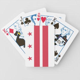 Washington DC State Flag Playing Cards