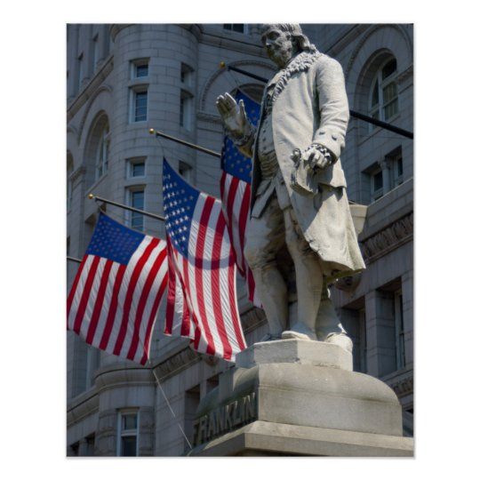 Washington, DC, statue of Benjamin Franklin Poster