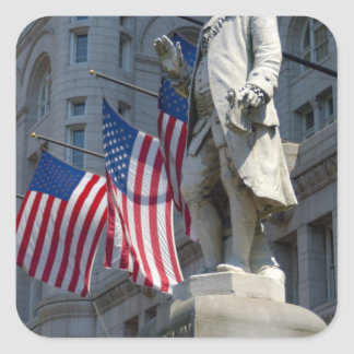 Washington, DC, statue of Benjamin Franklin Stickers
