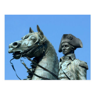 Washington, DC, statue of General George Postcard