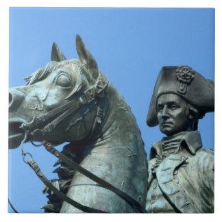 Washington, DC, statue of General George Large Square Tile