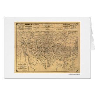 Washington DC & Suburbs Map by Gedney 1886 Greeting Card
