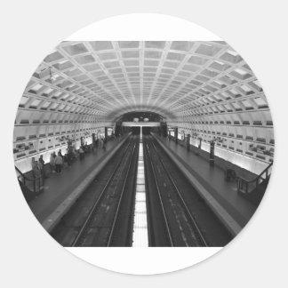 washington-dc-train-station classic round sticker