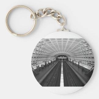 washington-dc-train-station basic round button keychain