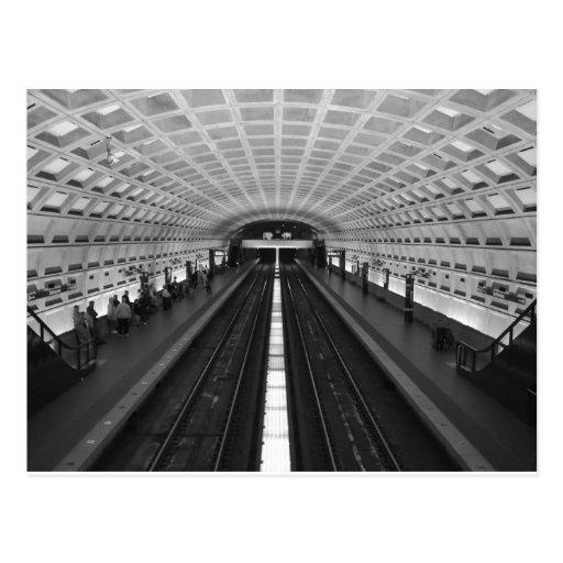 Washington-DC-tren-estación Tarjetas Postales