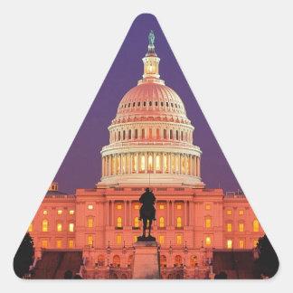 WASHINGTON DC TRIANGLE STICKER