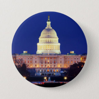 Washington DC United States Capitol at Dusk Button