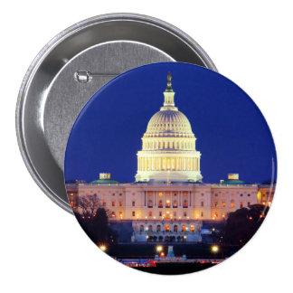 Washington DC United States Capitol at Dusk Button