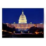 Washington DC United States Capitol at Dusk Card