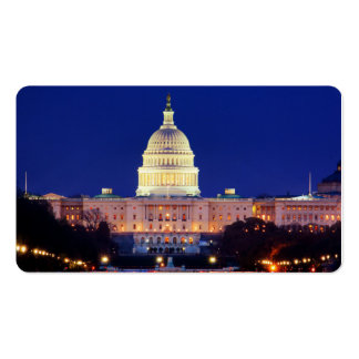 Washington DC United States Capitol at Dusk Double-Sided Standard Business Cards (Pack Of 100)