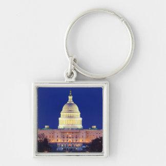 Washington DC United States Capitol at Dusk Keychain