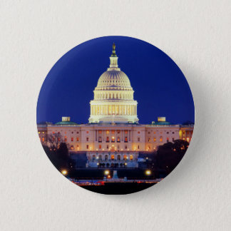 Washington DC United States Capitol at Dusk Pinback Button