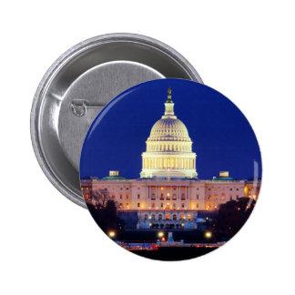 Washington DC United States Capitol at Dusk Pinback Button