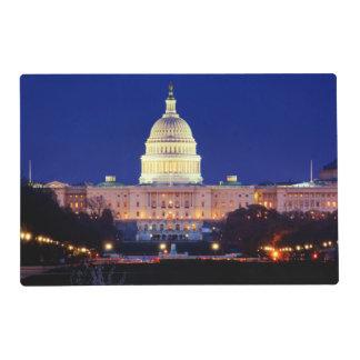 Washington DC United States Capitol at Dusk Placemat
