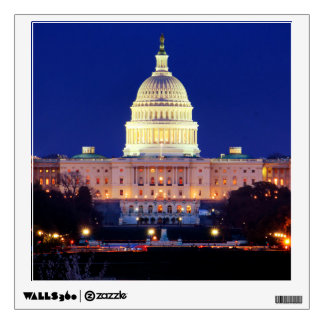 Washington DC United States Capitol at Dusk Wall Decal