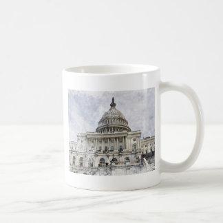Washington DC United States Capitol Coffee Mugs
