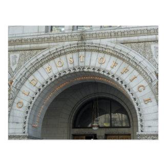 Washington DC viejo del pabellón de la oficina de Tarjeta Postal