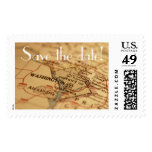 WASHINGTON DC Vintage Map Save the Date Postage
