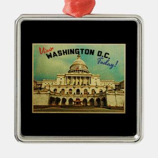 Washington DC Vintage Metal Ornament