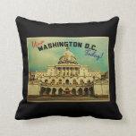 Washington DC Vintage Pillow