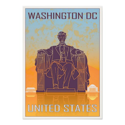 Washington DC vintage poster Arte Fotografico
