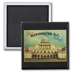 Washington DC Vintage Refrigerator Magnets
